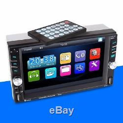 6.6 Touch Screen 2 DIN Bluetooth FM Radio Stereo Player Support 2USB TF AUX-IN
