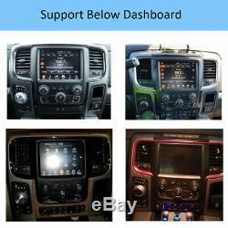 64GB 10.4 Vertical Screen Car GPS Radio For Dodge Ram 1500 2500 3500 2013-2018
