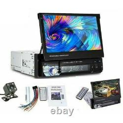 7'' 1 Din Car Radio Head Unit Stereo Audio Flip Out Touch Screen FM SD + Camera