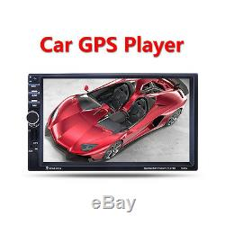 7 2 Din In-dash Car Stereo MP3 Audio Radio Player Bluetooth GPS Navigation AUX