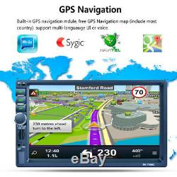 7'' 2DIN Bluetooth Car Dash MP5 Player GPS NAVIGATION Audio Radio Stereo Pretty