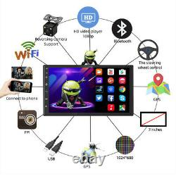 7 Android 9 1+16 Double 2Din Car Stereo Radio GPS Wifi OBD2 Mirror Link Player