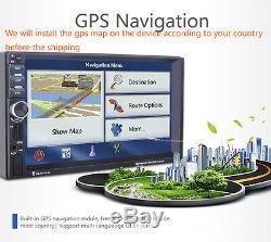 7 HD 2 Din In-dash Car GPS Navigation Bluetooth Stereo MP3 Player FM Radio MP5