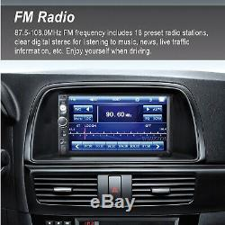 7'' Touch Screen Car MP5 Player 2 Din HD Stereo FM Radio Free Rear Camera