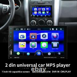 7'' Touch Screen Double 2 DIN Car Bluetooth MP5 Player Radio Stereo GPS AUX USB