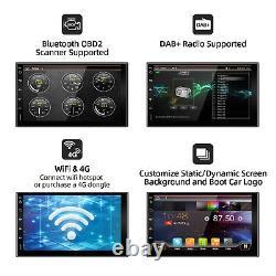 7Android 10 Car Radio Navigation Stereo Head unit 2DIN In Dash USB WIFI OBD CAM