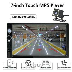 7In 2Din HD Touch Screen Car FM Radio MP5 Player +Steering Wheel Control +Camera
