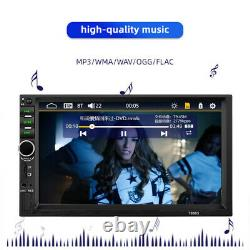 7in Double 2DIN Car FM Stereo Radio MP5 Player Touch Screen BT Audio USB/TF/AUX