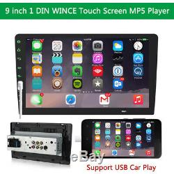 9 1Din Car Stereo MP5 Player HD Radio In-dash Head Unit Mirror Link USB Dongle