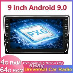 9 IPS New Android 9.0 Car Radio Stereo NAVI Head unit GPS OBD BT WIFI 4GB+64GB