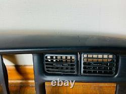 99-01 Dodge RAM Cluster DASH Radio climate gauge Bezel Panel Trim BLACK defect