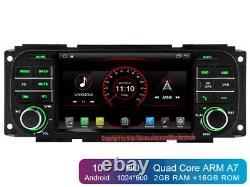 Android 10 Car GPS Radio Stereo head unit For Dodge Chrysler Jeep / Carplay