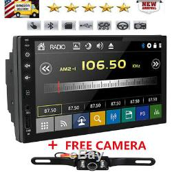 Android 8.1 2Din 7 Car Stereo Radio Player Bluetooth MP3 AUX GPS+Backup Camera