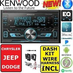 CHRYSLER-JEEP-DODGE KENWOOD Bluetooth USB Double Din AM/FM Stereo OPT SIRIUSXM