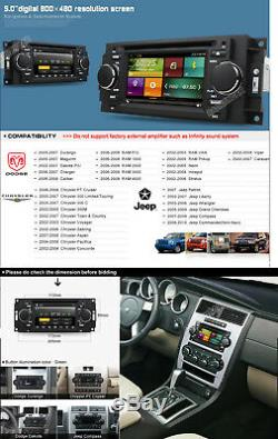 Car DVD GPS Radio Stereo System BT For Dodge Ram Durango Caliber Charger Dakota
