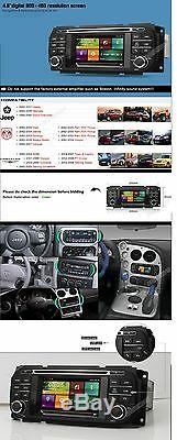 Car DVD Stereo Radio Navigation For Dodge Ram Caravan Dakota Intrepid Stratus