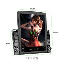 Car MP5 Player FM Stereo Radio 9.7in HD Touch Screen Dual DIN Bluetooth GPS Wifi
