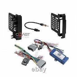 Car Radio Stereo Double Din Dash Kit Amp Harness for 07-up Chrysler Dodge Jeep