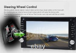 Car Stereo GPS Navigation Bluetooth Radio Double 2 Din 6.2 CD DVD Free Camera
