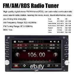 Car Stereo Radio DVD CD MP5 Player 6.2 Touch Screen Bluetooth 2DIN + Rear Cam