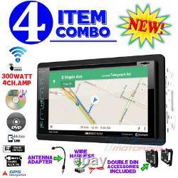 Chrysler Jeep Dodge Double Din DVD CD Gps Navigation Bluetooth Radio Stereo