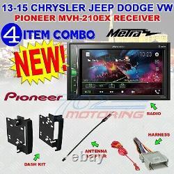 Chrysler Jeep Dodge Pioneer Touchscreen Bluetooth Usb Aux Car Stereo Radio Pkg