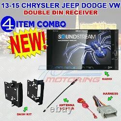 Chrysler Jeep Dodge Soundstream Touchscreen Bluetooth Usb Car Stereo Radio Pkg