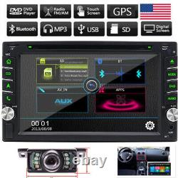 Double 2Din 6.2 Car DVD MP3 Player Touch Screen In Dash Stereo Radio Camera GPS