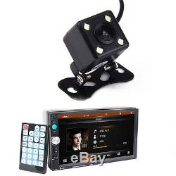 HD 7'' 2DIN Bluetooth Car SUV Stereo Audio MP4 MP5 Radio Player +Rearview Camera