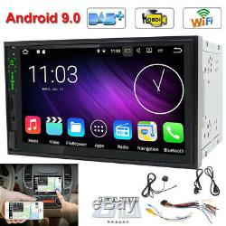 IPS Android 9.0 Double 2Din Car Stereo Radio GPS Nav Wifi DAB Mirror Link no DVD
