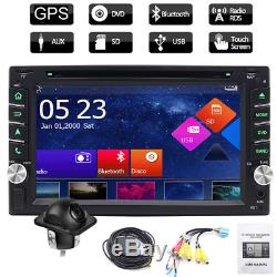 In Dash Double 2Din Car Stereo DVD Player Touch Screen Auto FM Radio GPS Navi BT