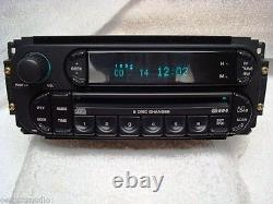 JEEP Grand Cherokee 300M DODGE Ram Caravan Viper Radio 6 Disc Changer CD Player