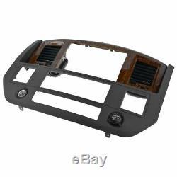 MOPAR Dash Navigation Radio Bezel Slate Gray & Wood Grain for Dodge Ram Truck