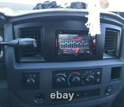 Mounting Panel Dash Kit Black Slate Grey Install Aftermarket Double Din Radio
