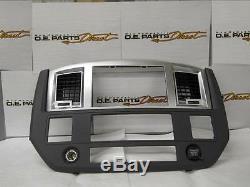 NEW! 06-09 Dodge Ram RADIO DASH BEZEL Slate Gray NEW MOPAR OEM OE 5KS701DHAB