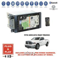 Plug-In GPS Navigation USB Bluetooth Radio Stereo+2009-2012 Dodge Ram Dash Kit