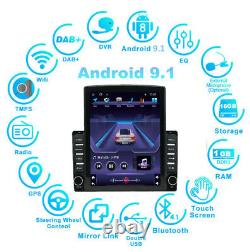 Quad-Core 9.7in Car MP5 Player Stereo Radio WIFI GPS Navi DAB Touch Screen DVR