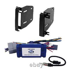 Radio Replacement Interface & Dash Kit 2-DIN for Dodge/Chrysler/Jeep