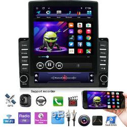 Rotatable 10.1 Android 9.1 HD 1DIN Quad-core 2GB+32GB Car Stereo Radio GPS Nav