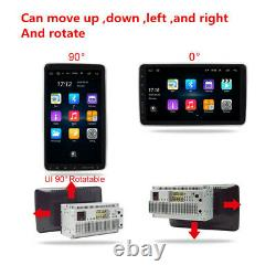 Rotatable 2Din 10.1in Android 9.1 Car GPS FM Stereo Radio WiFi MP5 Player 32+2G