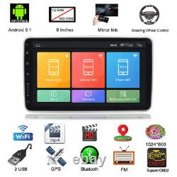 Rotatable 9 Screen 1DIN Android 9.1 Car Multimedia MP5 Radio Stereo Player Navi