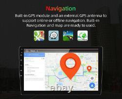 Single 1 Din 9'' Car Stereo BT Android 10 Radio FM AM USB CarPlay MP5 Player AUX