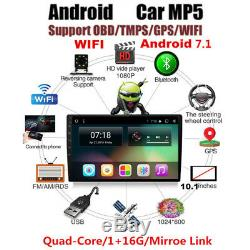Universal 10.1 Single 1 DIN Car Android 7.1 Stereo Radio Player 3G/4G WIFI GPS