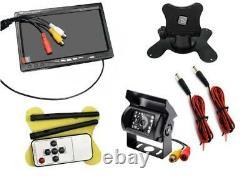 Wireless IR Night Vision Rear View Backup Camera7 TFT Monitor Kit For RV Truck